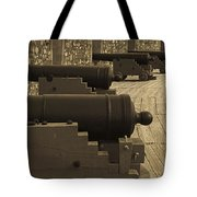 Cannons At Louisberg Fortress Tote Bag