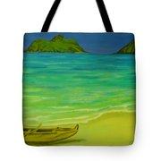 Canoe At Lanikai Beach Tote Bag