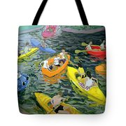 Canoes Tote Bag by Andrew Macara