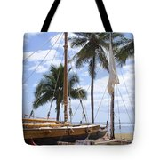 Canoes At Hui O Waa Lahaina Maui Hawaii Tote Bag