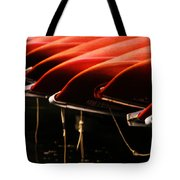 Canoes Of Red Tote Bag