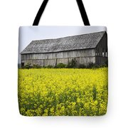 Canola Field And Old Barn Tote Bag