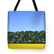 Canola Field And Trees Tote Bag