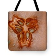 Cantaloupe Core Tote Bag by Susan Herber