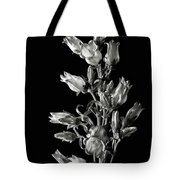 Canterbury Bells In Black And White Tote Bag