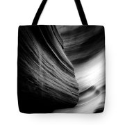 Canyon Curves In Black And White Tote Bag by Christine Till