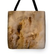 Canyon Steam Vents In Yellowstone National Park Tote Bag