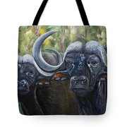 Cape Buffalo 2 Tote Bag