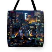 Cape Town's Tilt Shift  Tote Bag