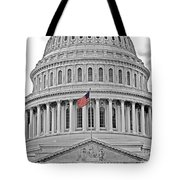 Capitol With Flag Tote Bag