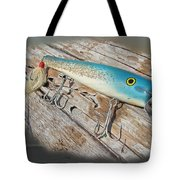 Cap'n Bill Swimmer Vintage Saltwater Fishing Lure Tote Bag