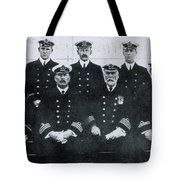 Captain And Officers Of The Titanic Tote Bag