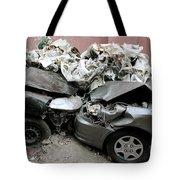 Car Crash In Cairo Tote Bag