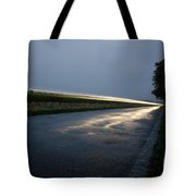 Car Lights At Night Tote Bag