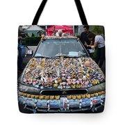 Car Of Teeth Tote Bag