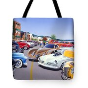 Car Show By The Lake Tote Bag