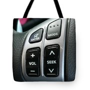 Car Steering Mounted Music Player Buttons Tote Bag