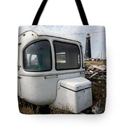 Caravan And Lighthouse Tote Bag