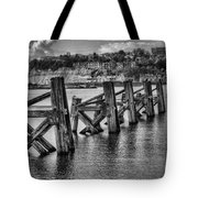 Cardiff Bay Old Jetty Supports Mono Tote Bag