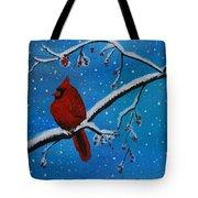 Cardinal Christmas Tote Bag