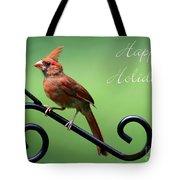 Cardinal Holiday Card Tote Bag