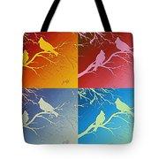 Cardinals Love 2 Pop Art Tote Bag
