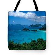 Caribbean Blue Tote Bag by Kathy Yates
