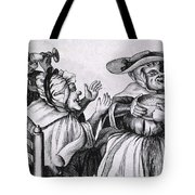 Caricature Of Three Alcoholics, 1773 Tote Bag