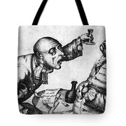Caricature Of Two Alcoholics, 1773 Tote Bag by Science Source