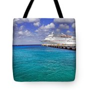 Carnival Elation Docked At Cozumel Tote Bag