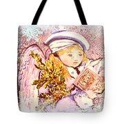 Caroling Angel Tote Bag