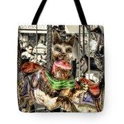 Carousel Cat Tote Bag