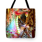 Carousel Dragon Tote Bag