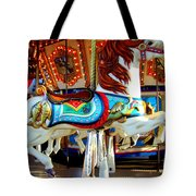 Carousel Horse With Fish Tote Bag