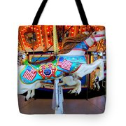Carousel Horse With Flags Tote Bag