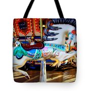 Carousel Horse With Leaves Tote Bag