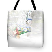Carousel White Horse In A Child's World Tote Bag
