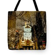 Carriage At The Water Tower Tote Bag