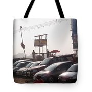 Cars In A Parking Lot At Surajkund Tote Bag
