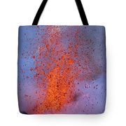 Carsten Likens This Explosive Lava Tote Bag