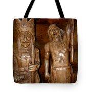 Carved American Indians Tote Bag