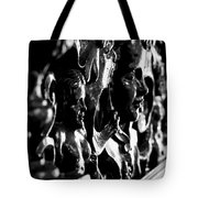 Carved Faces Tote Bag