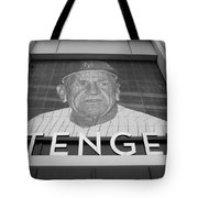 Casey Stengel In Black And White Tote Bag by Rob Hans