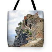 Castello Della Dragonara In Camogli Tote Bag by Joana Kruse