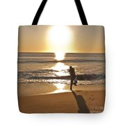 Casting To The Sun Tote Bag