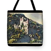 Castle Above The Rhine In Germany Tote Bag
