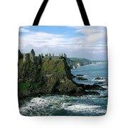 Castle At The Seaside, Dunluce Castle Tote Bag