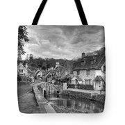 Castle Combe England Monochrome Tote Bag