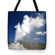Castle Geyser Erupting Tote Bag