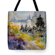 Castle Of Veves Belgium Tote Bag